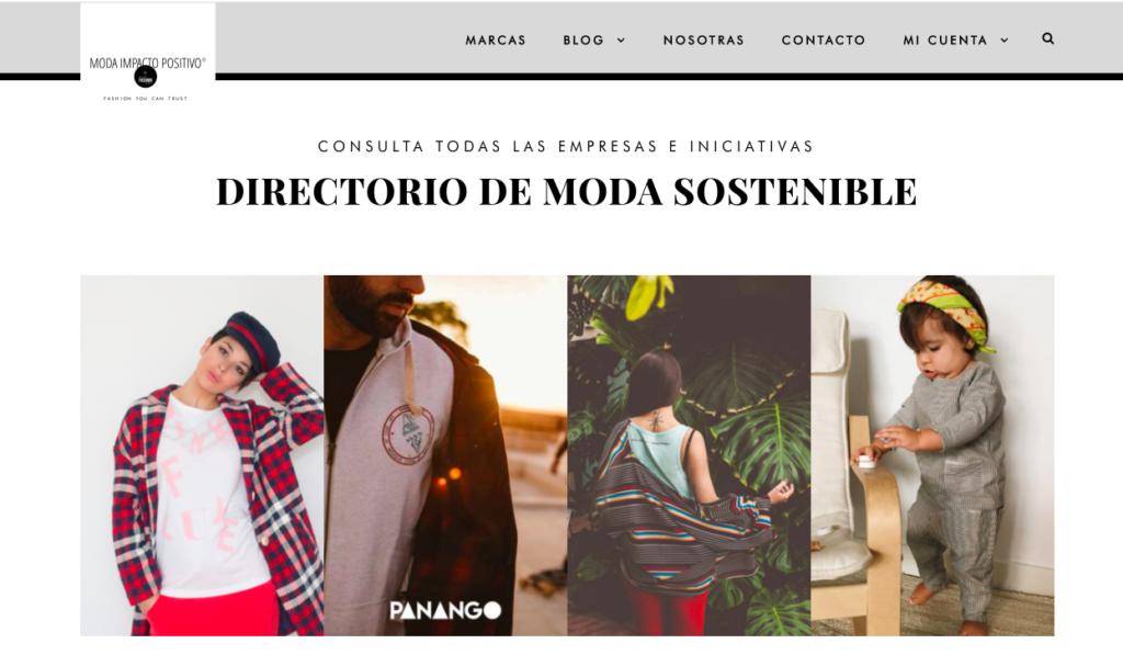 Web de Moda Impacto Positivo